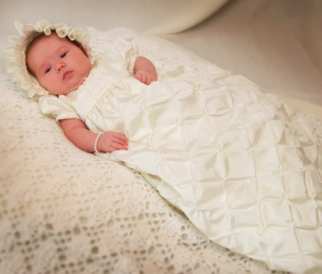 TALLY CHRISTENING DRESS, Christening Gown, Blessing Dress, Baptism Dress Custom Made