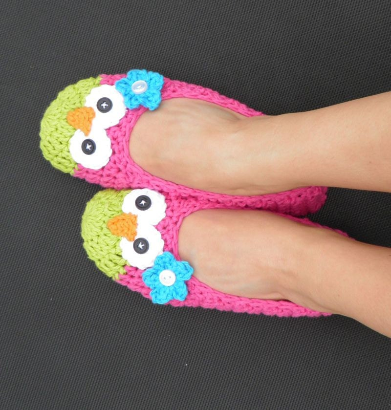 WOMENS Owl Ballet Slippers -- Custom Made to Order