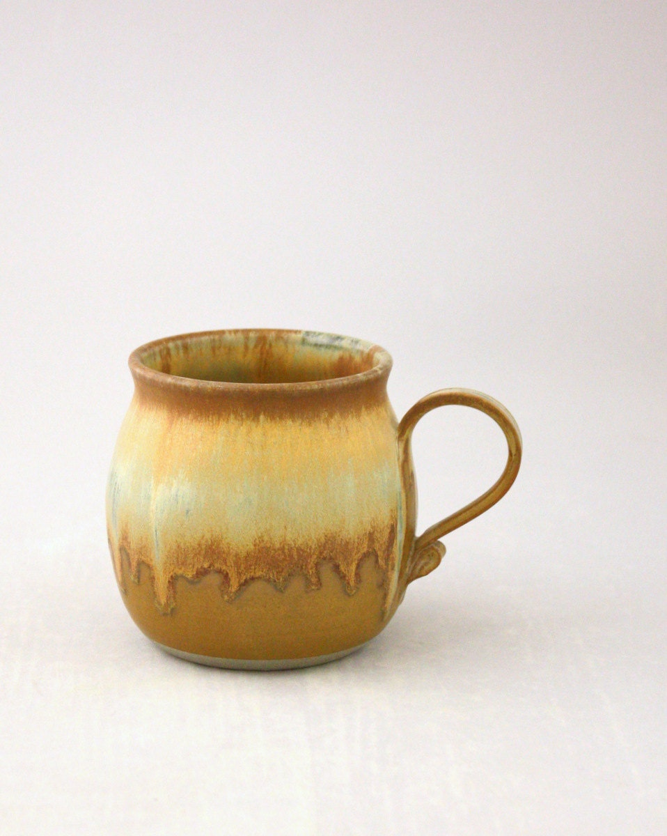Single Coffee Mug in Burmese Gold by Nstarstudio - NstarStudio