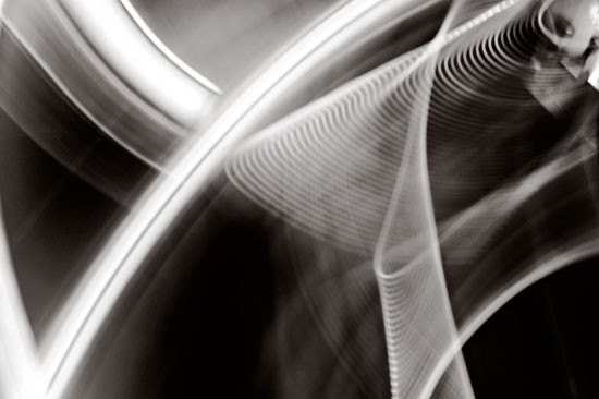 Black and White Abstract Photograph,Bending, 8x10 Art Print, Light, Movement, Fine Art Photo - birdandbloke