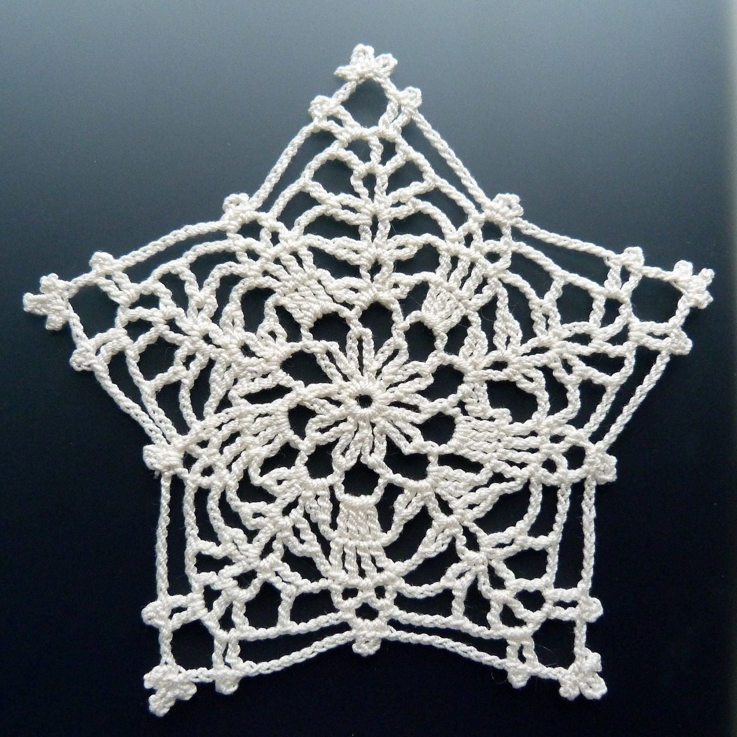 Crocheted Doily - Lonely Star