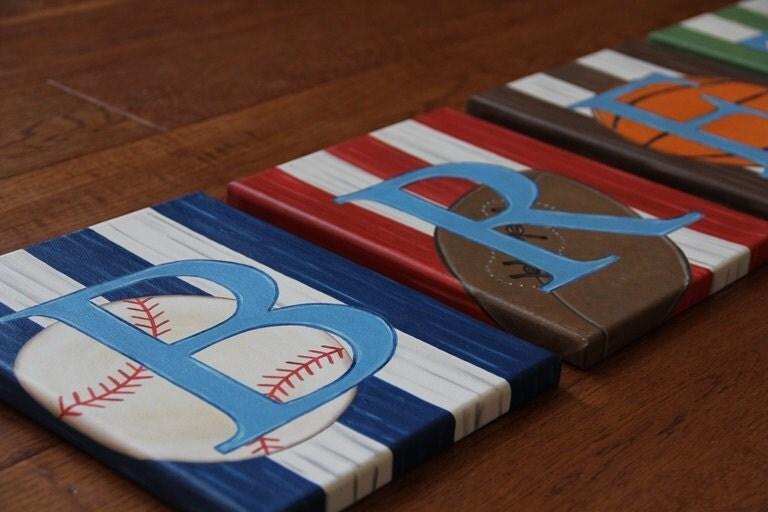 ORIGINAL Sport Letter Custom Sport Letters Sports Fan Wooden – Boys Sports Bedroom Decor