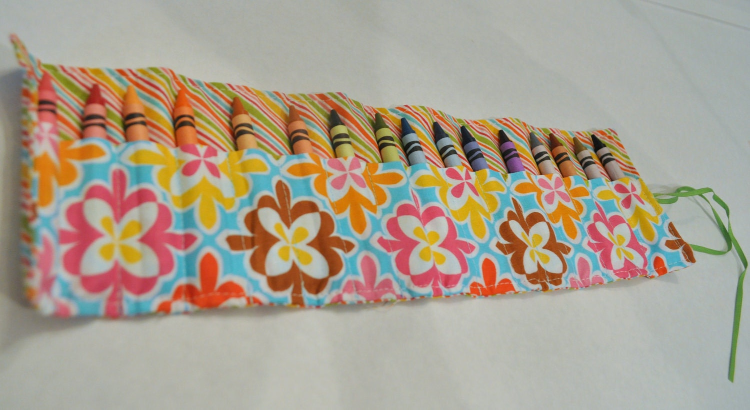 Crayon Rolls - Stripes and flowers...(additional options availible)