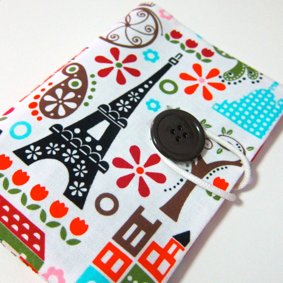 Whimsy Eiffel tower  - Passport Cover passport holder passport case