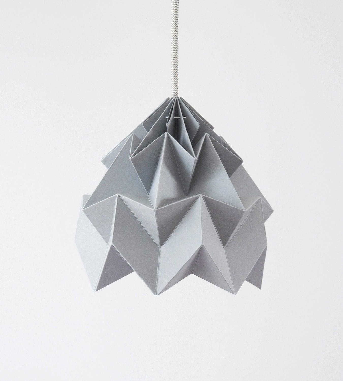 Moth origami lampshade gray