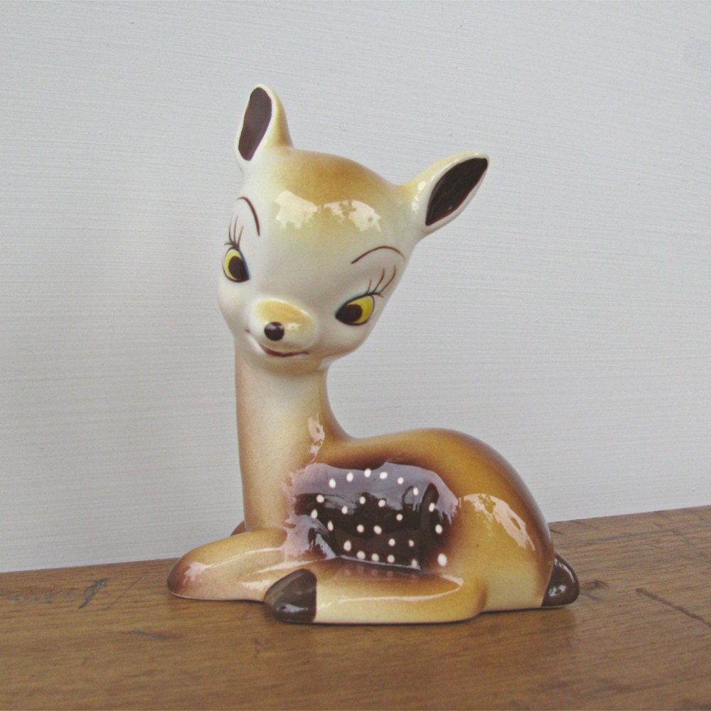 Vintage Fawn Deer Figurine Ceramica de Cuernavaca - fifthseason