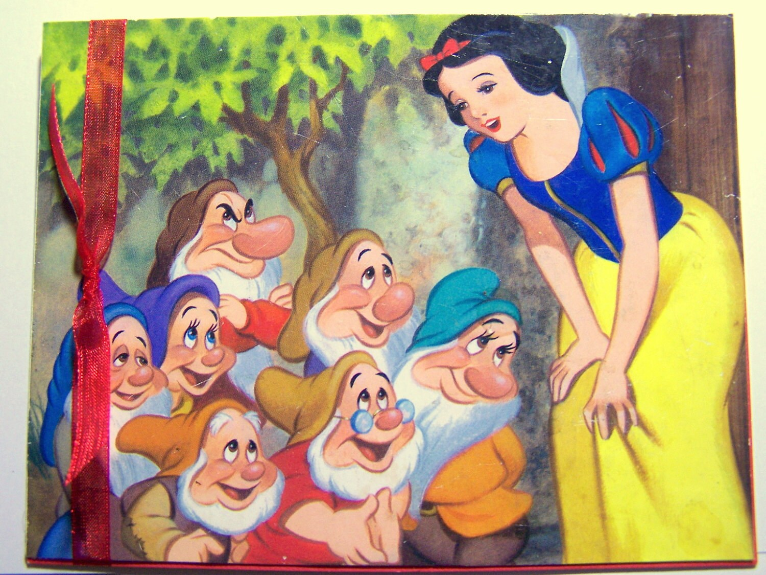 Snow White Card Disney Card Disney Birthday Card and Gift Tags:  Snow White and the Seven Dwarfs and 13 Gift Tags