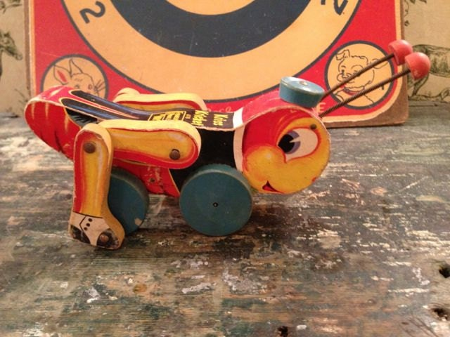 1950s Fisher Price Pull Toy - Kriss Kricket 678 - FlossyBobbsey