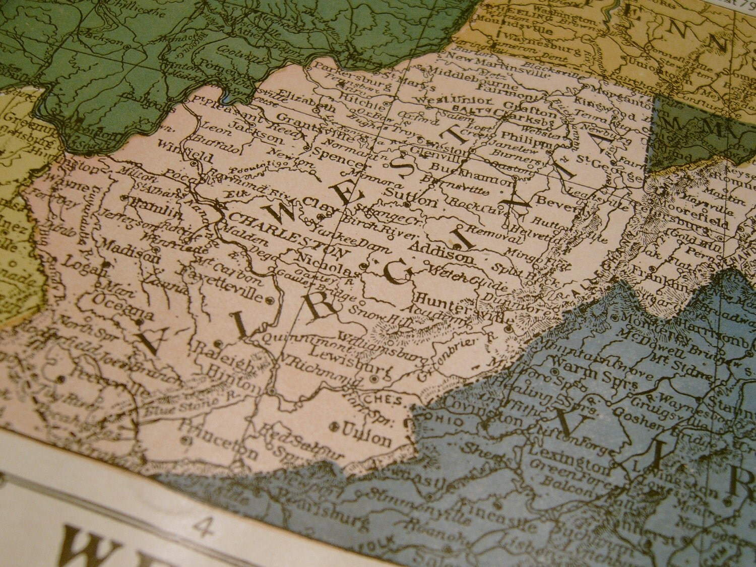 West Virginia Antique Map