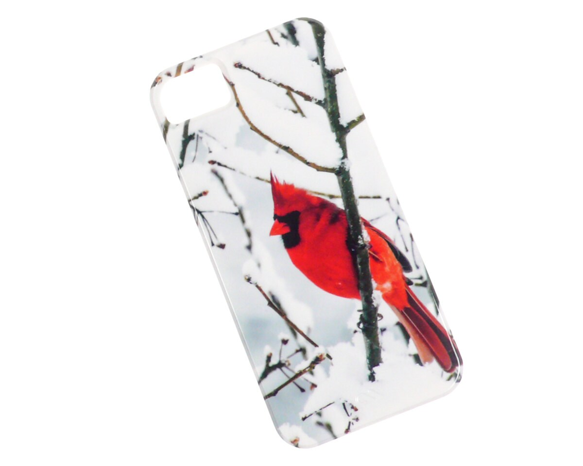 iPhone 5 Case, Cardinal, Red Bird, Christmas, Winter, Snow, Snowy Scene, Landscape Photography, Case Mate Barely There Sleek Ultra Thin