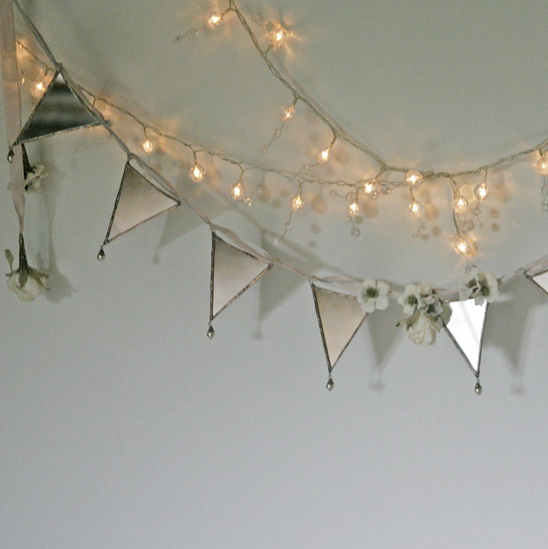 A Faerie Wedding - a mirrored garland or bunting