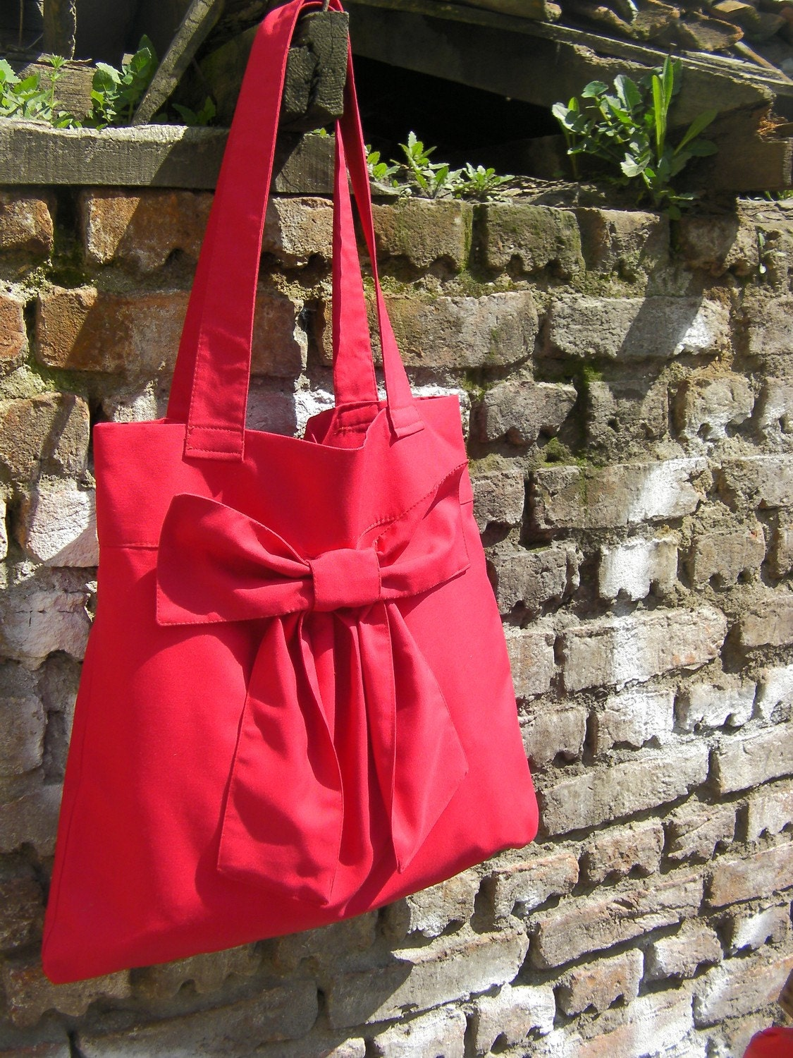Red shoulder bag/Tote bag