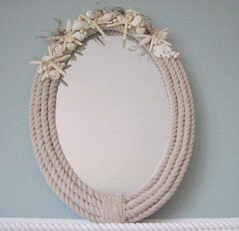 Пляж Декор Shell Зеркало - Морской Seashell Декор Зеркала ш Starfish & Seashells