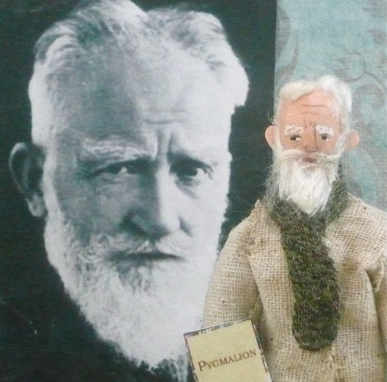 George Bernard Shaw Doll Miniature Irish Playwright Art