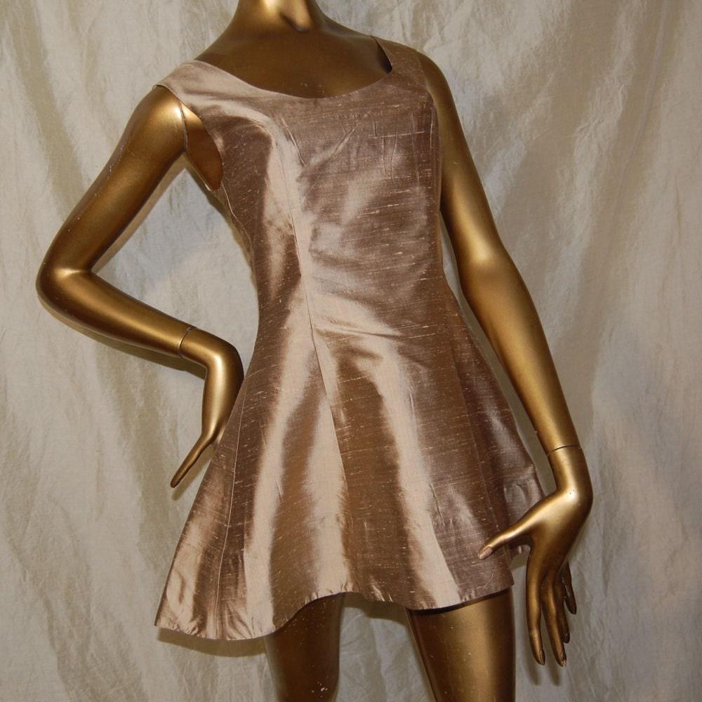 Scoop Neck Mini Dress -  UK Size 8