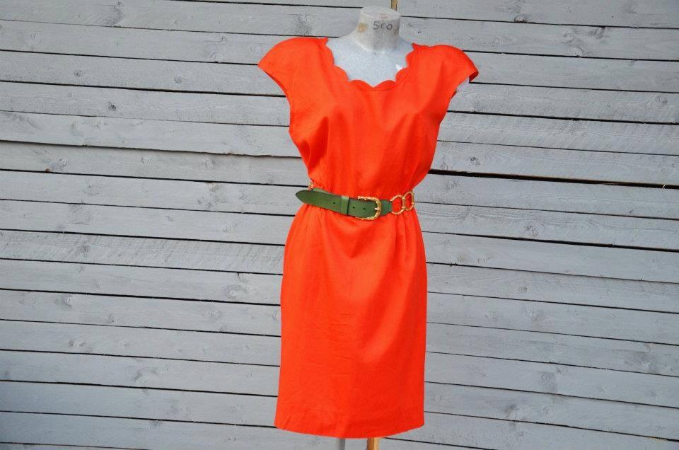 GIANFRANCO FERRE'  orange dress - RoaringRetro