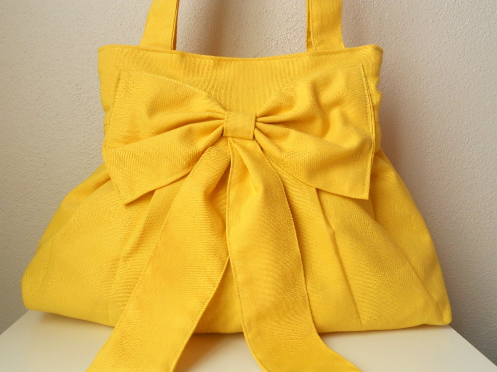 Sale Bag-Yellow Bag-Everyday Bag-Double Straps - marbled