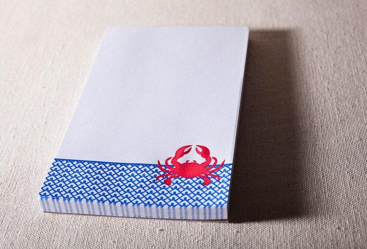 crab note pad
