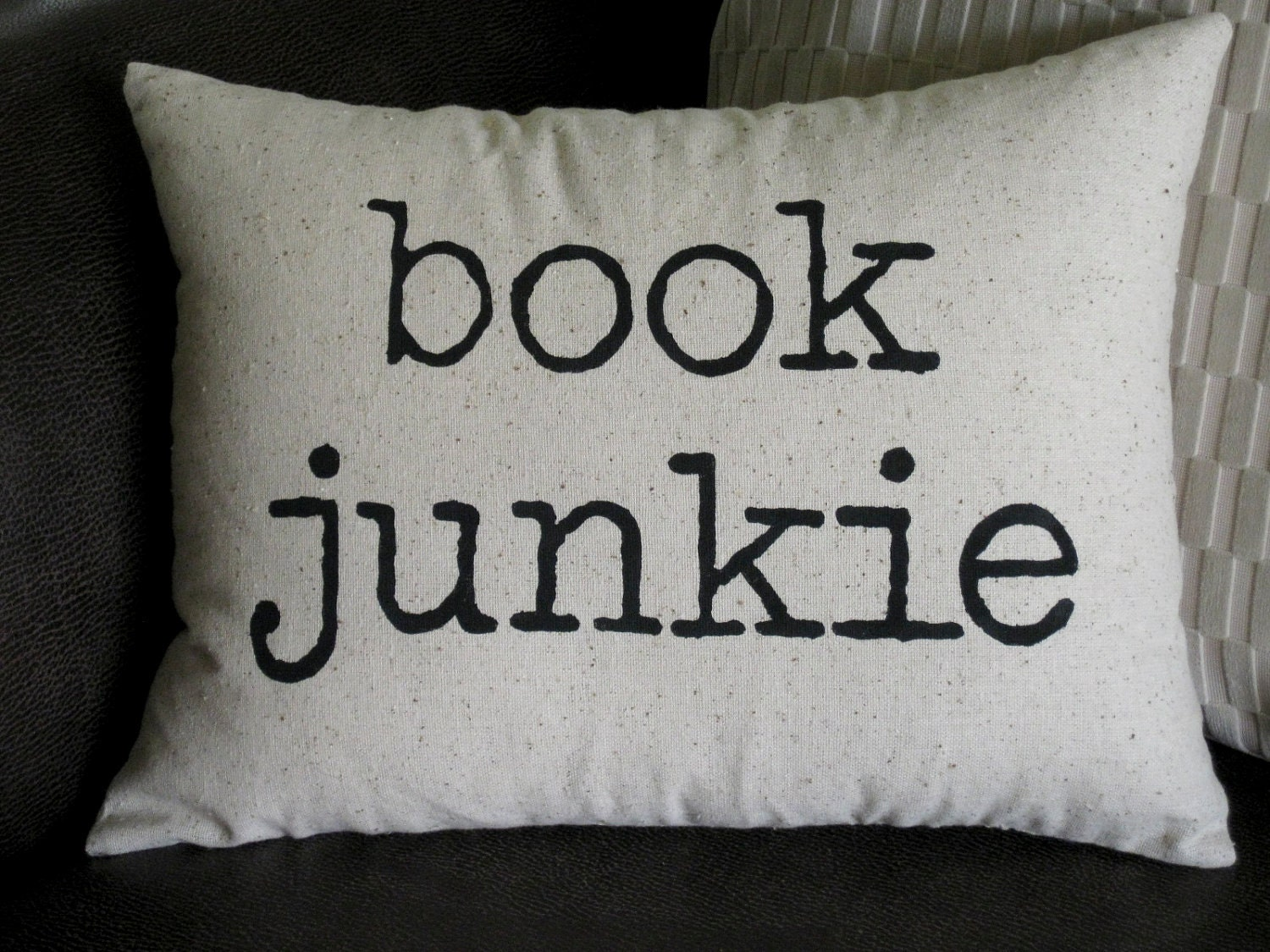 Book Junkie Cushion by Life Crafts Whatever