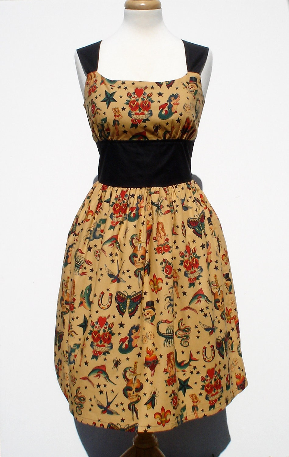 Vintage Tattoo Pin me Up Dress