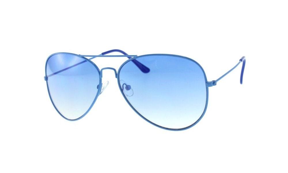 Vintage Aviator Sunglasses Deadstock Blue Aviators Spring Summer Unisex Easter - sunnyspex