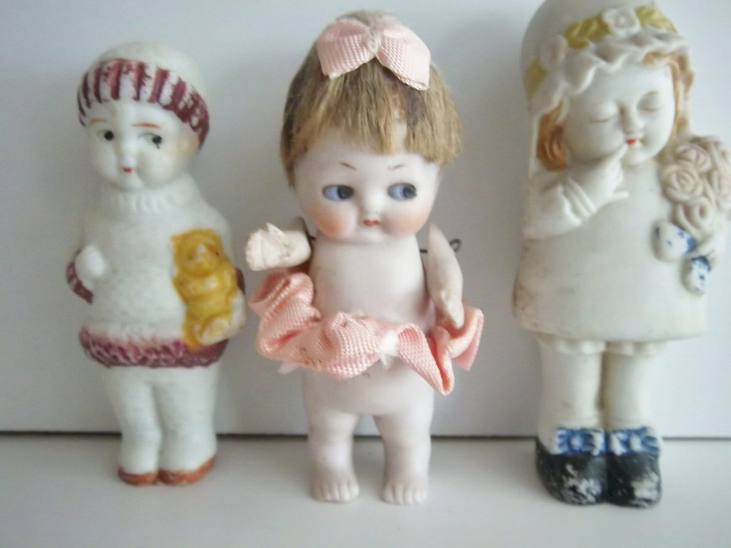 Bisque/porcelain three doll lot - KarmaRox