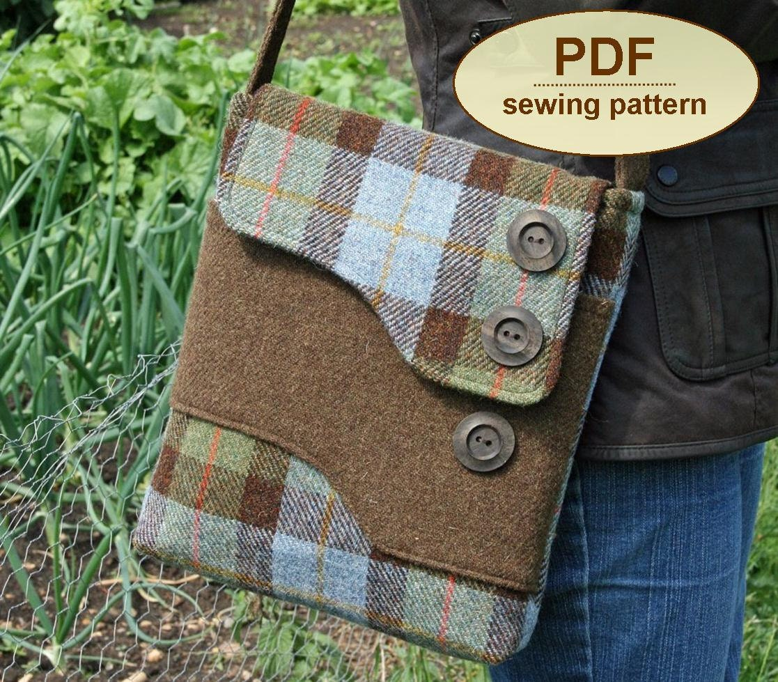 Free Purse Patterns To Download : Tote Bag Pattern: Messenger Bag Pattern Free Download