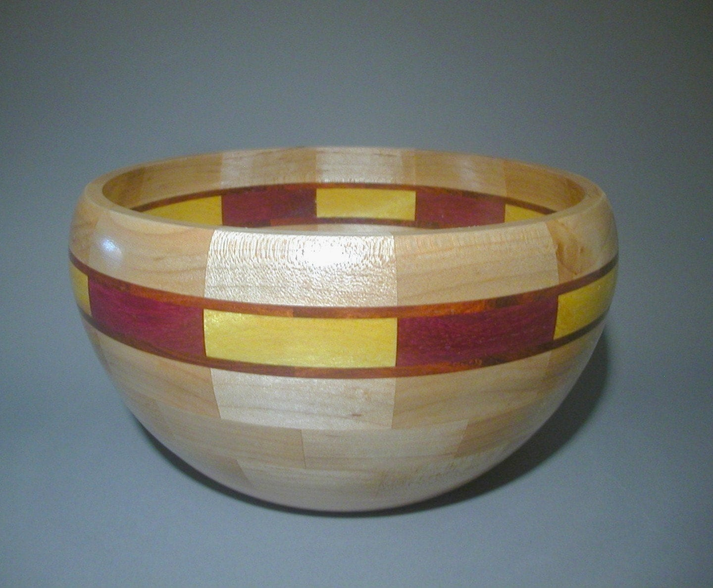 Segmented Maple Bowl - B227 - WoodturnedArtforms