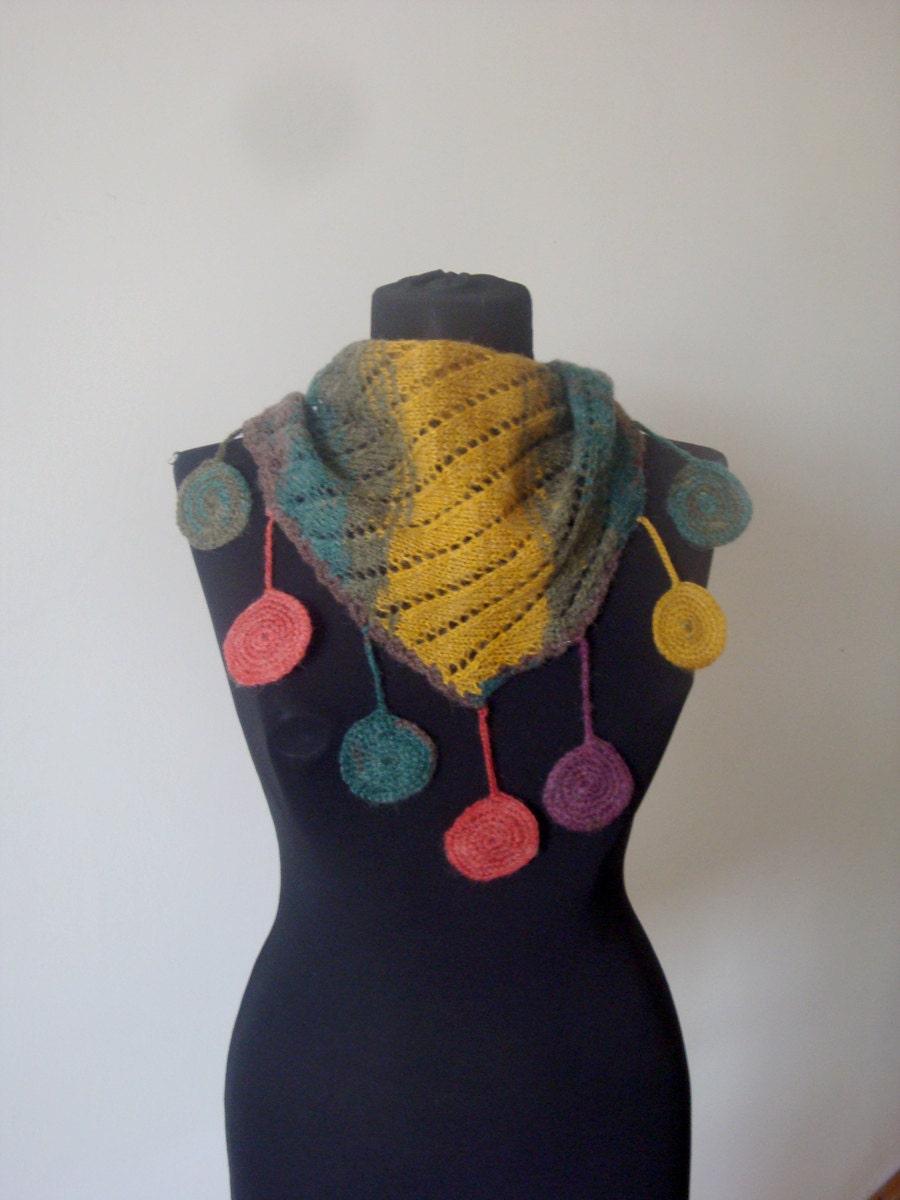 تنزل شال دستباف / روسری / گرم