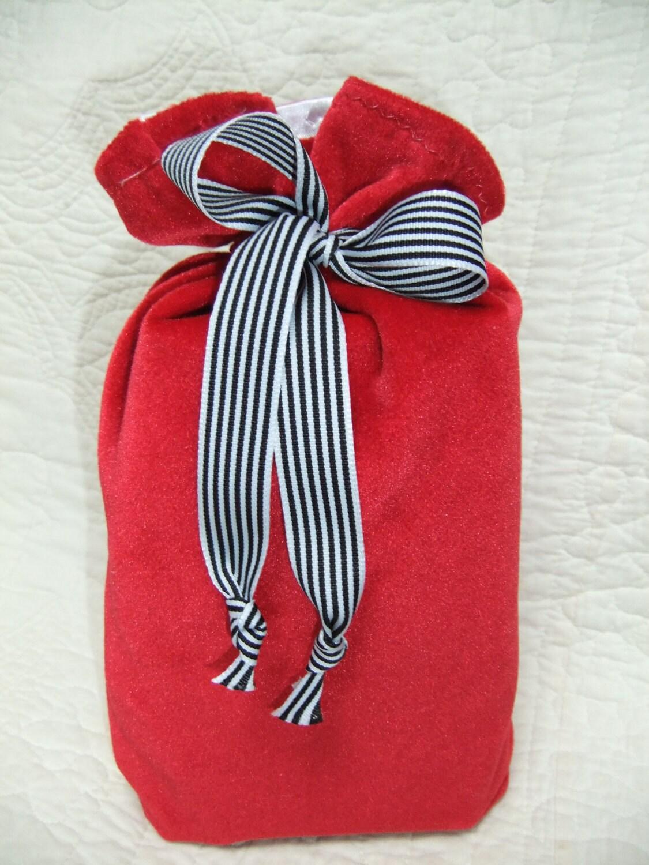 Velvet Gift Bag - Wine/Bottle Bag - Eco Friendly - Reusable