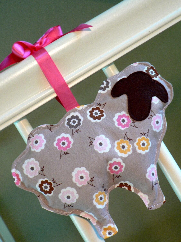 Lamb Lavender Sachet Pink and Brown