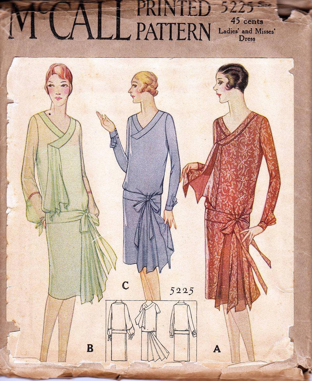1920s dress patterns the dress shop