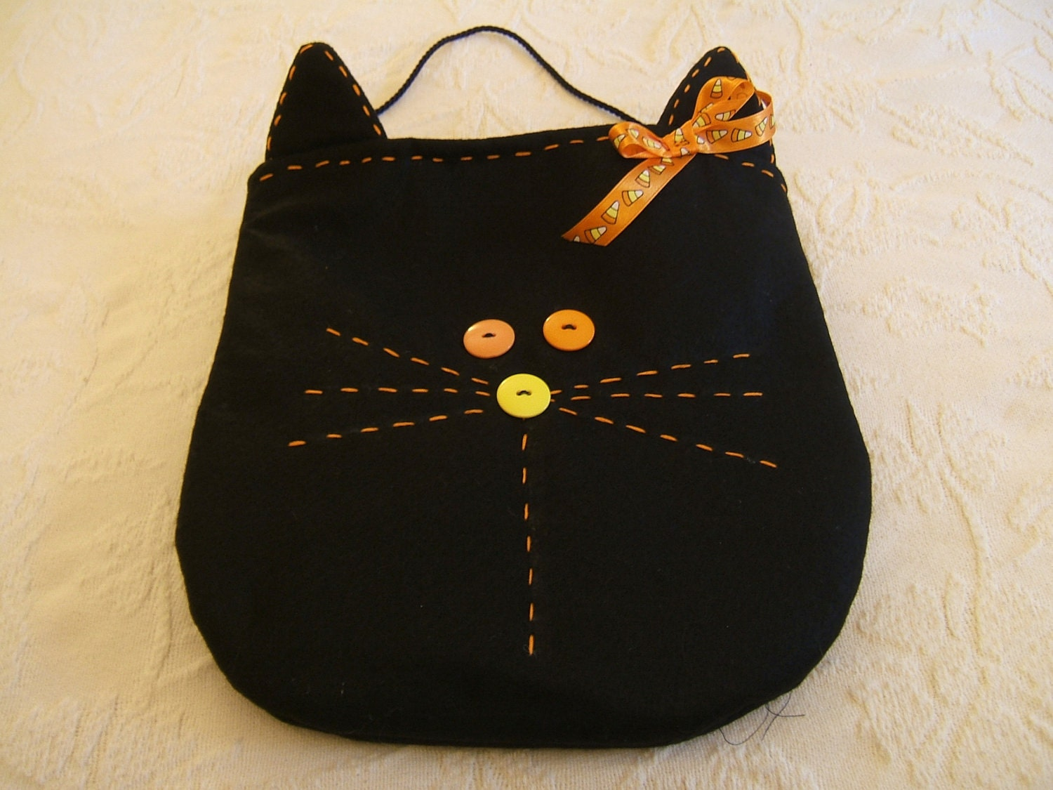 Black Cat Halloween Treat Bag