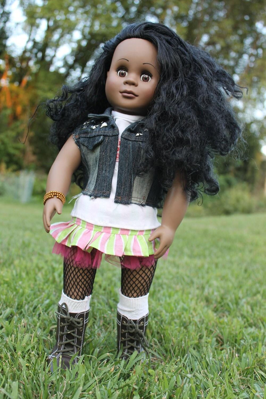 American Girl Doll Jean Vest