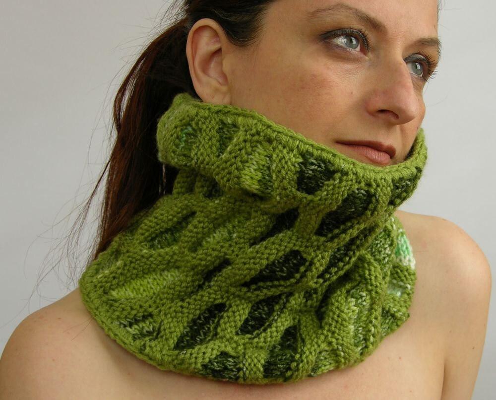 Шея теплый шарф трубки капотом шарфом шею черепахи трикотажные веганский зеленого кедра аква сотовых мотив унисекс tbteam therougett