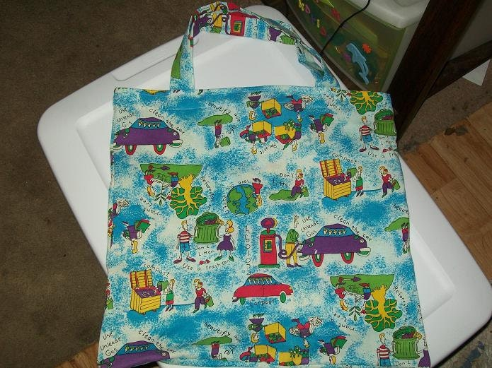 Save the Earth Fabric Bag