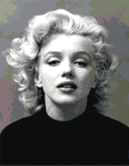 Marilyn Monroe - Black Sweater - counted cross stitch pattern.