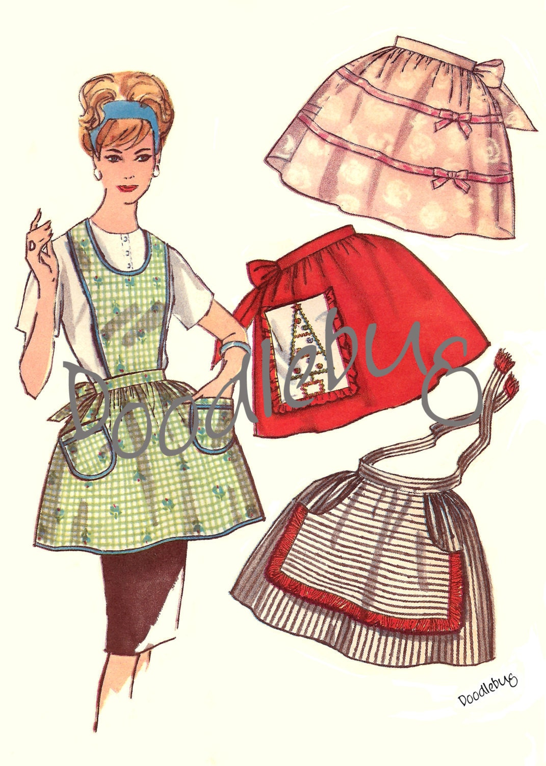 Vintage Aprons On Pinterest Vintage Apron Aprons And