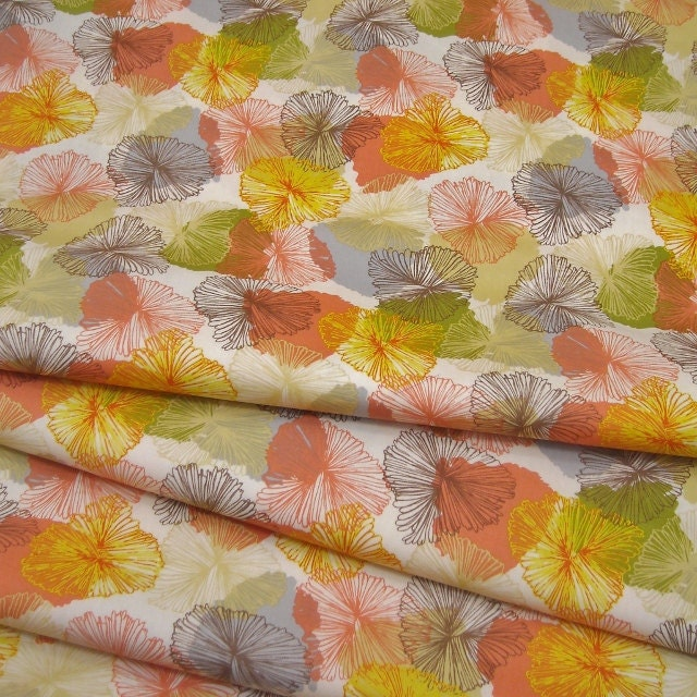 Bryant Park Orange Faded Floral - 1/2 YD - FabricFascination