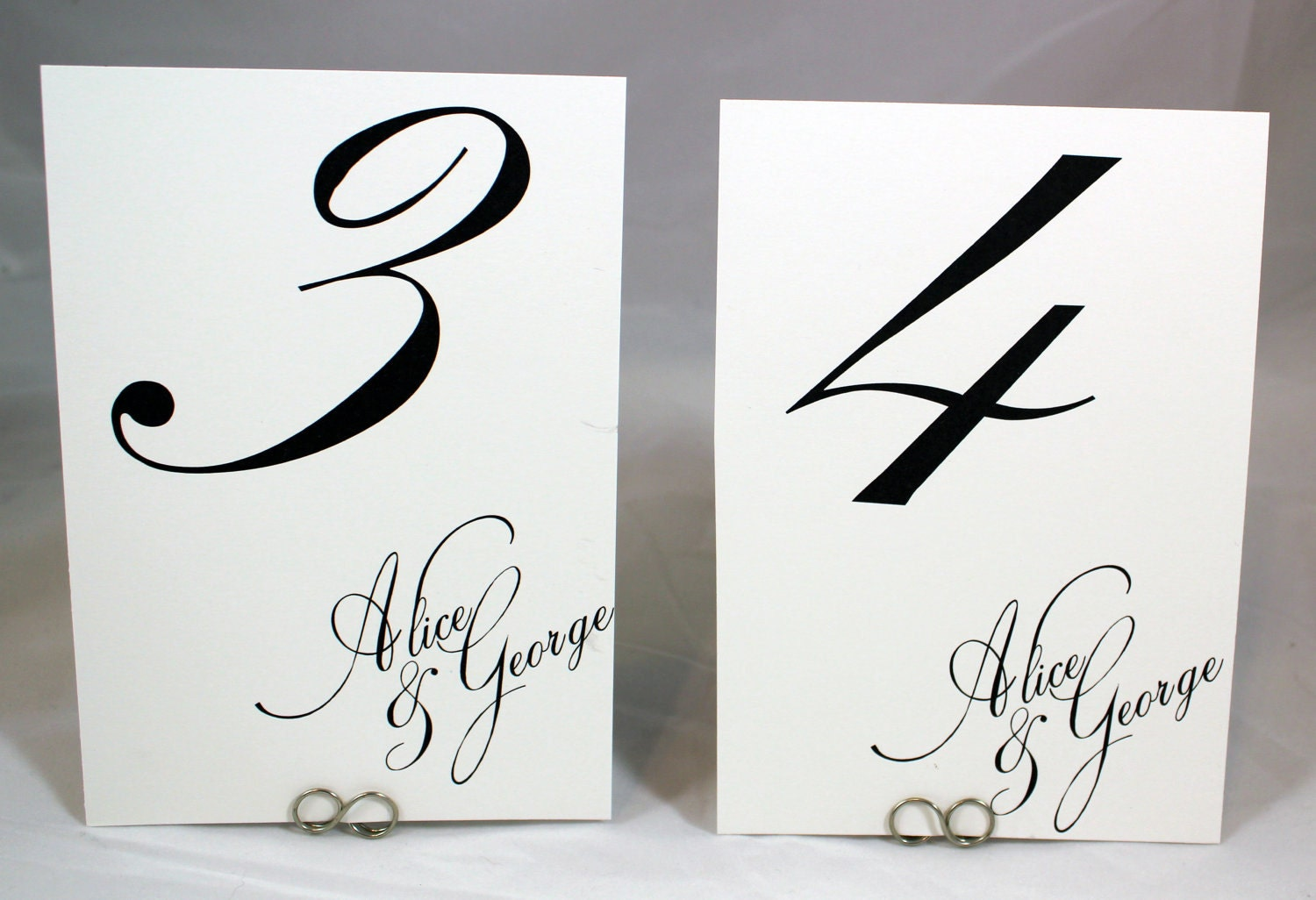 Table Number Cards Simple Chic Calligraphy By Weddingmonograms