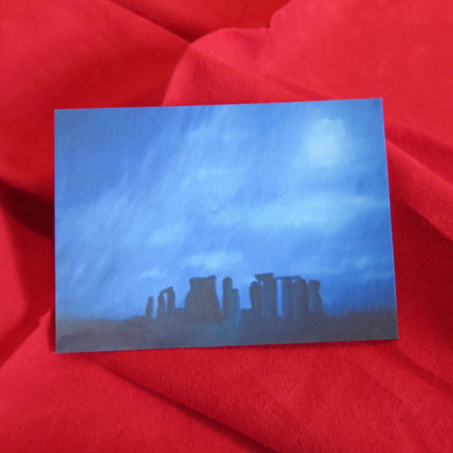 Print of Original Oil Painting Stonehenge by Kat ACEO