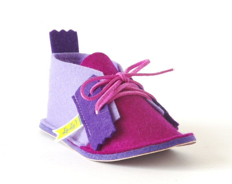 Toddler girls house shoes Ooop Lavender, magenta & purple, toddler house slippers, infant shoes with non slip soles