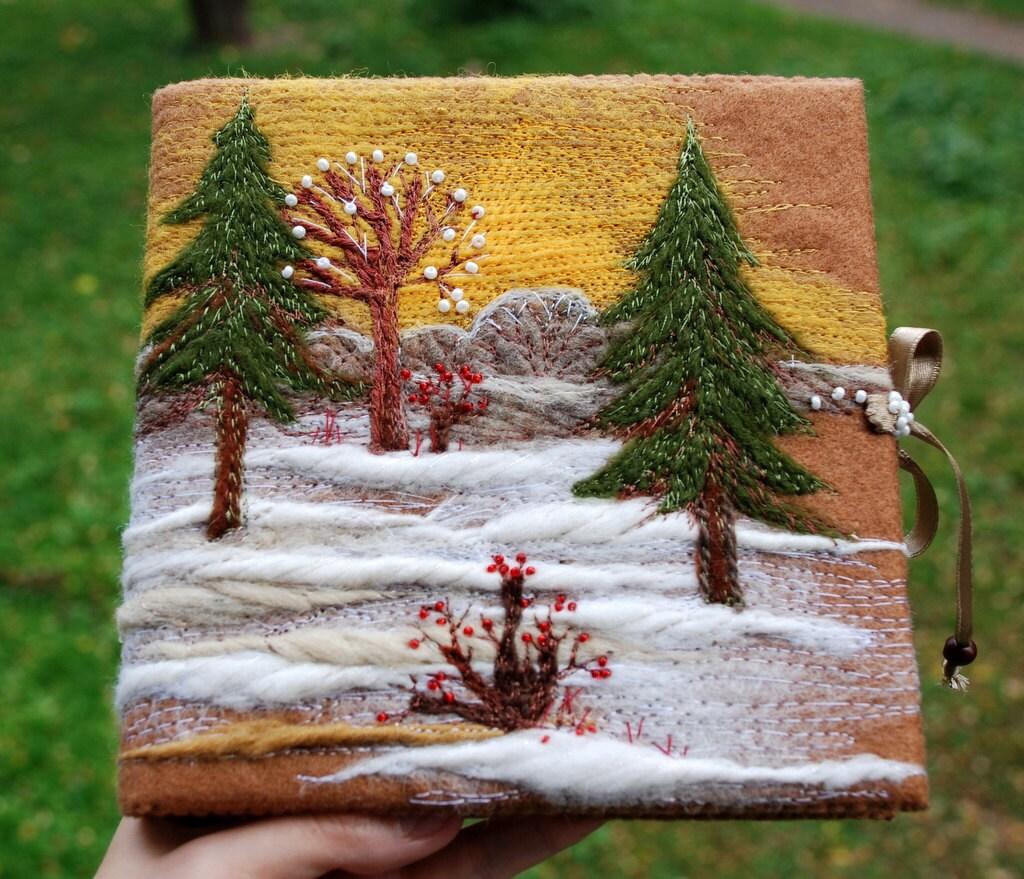 Зимний лес ноутбука - журнал