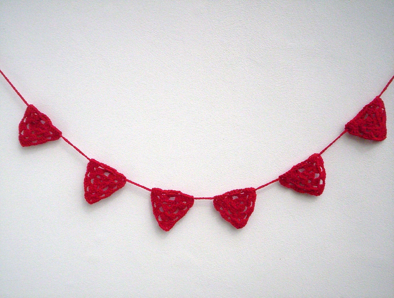 Red garland bunting