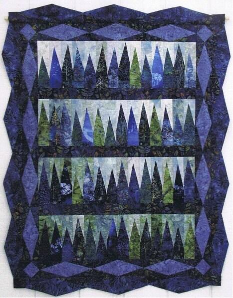 BLUE SPRUCE Quilt Kit with Hand Dyed Fabrics - HandDyedFabrics
