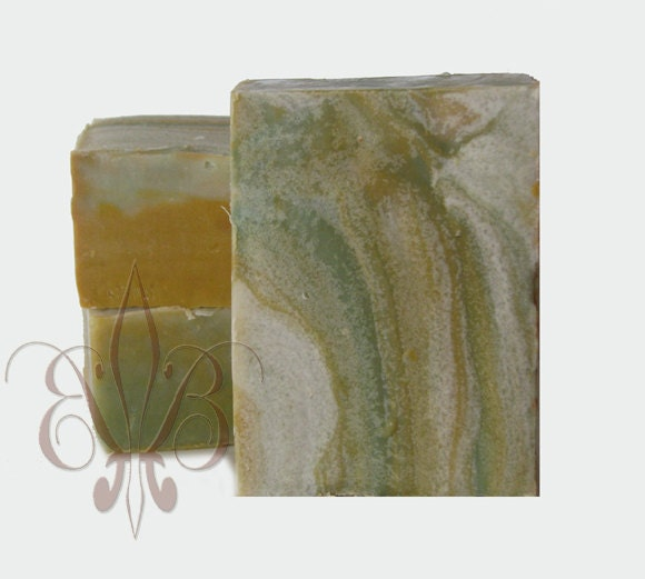 Handmade Soap: Organic Grapefruit & Sage Shea Butter Bar Soap - Artisan Soaps