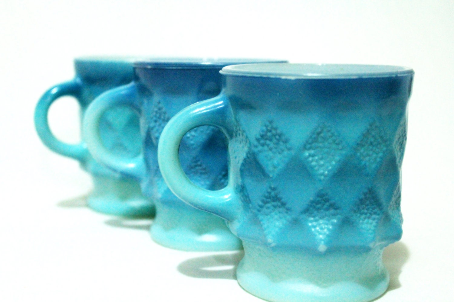 Soy Candle in Blue Vintage Coffee Cup