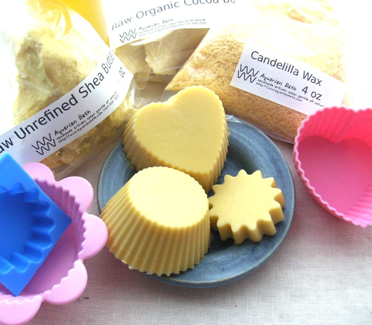 Lotion Bar Kit - Makes 12 Shea & Cocoa Butter Lotion Bars, Includes 3 Recipes - Kit - DIY Kit - Solid Lotion - Solid Lotion Bar
