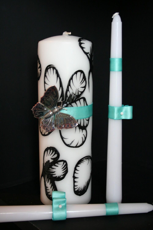 Установить единства Свеча - Бабочка на цветке