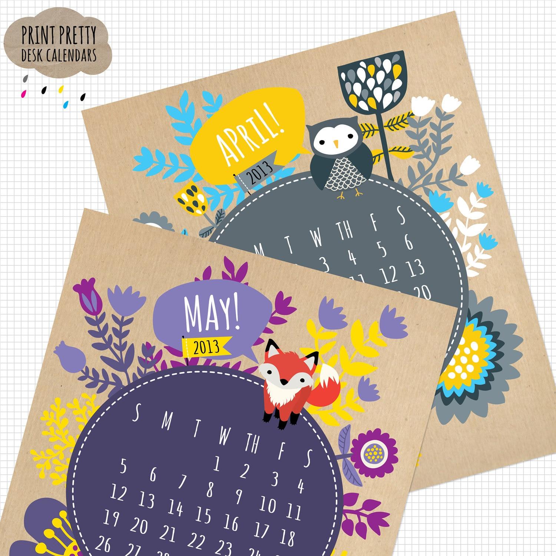 printable kraft calendar